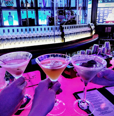 Cocktails at the Blue Martini in Naples, Florida