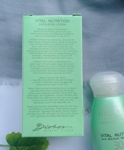 Review Biokos Vital Nutrition 30s Exfoliating Lotion, pretty-moody.com, exfoliating lotion lokal