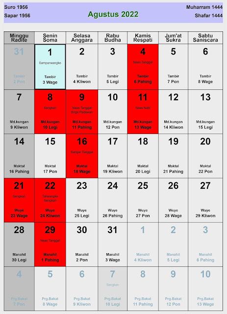 Hari Penting Bulan Agustus : penting, bulan, agustus, Kalender, Agustus, Lengkap, Buruk, Enkosa.Com, Informasi, Besar, Bulan, Januari, Hingga, Desember