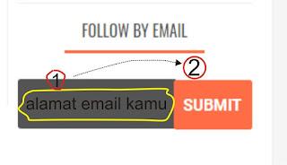 cara berlangganan artikel di blog palafa melalui alamat email