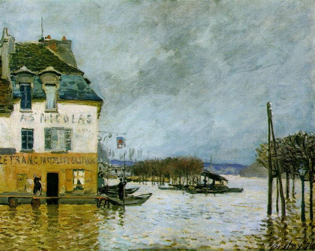 Dilúvio em Port Marly - Alfred Sisley ~ Um dos mais representativos paisagistas do impressionismo