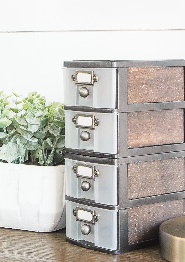 Industrial farmhouse Dollar tree drawers makeover