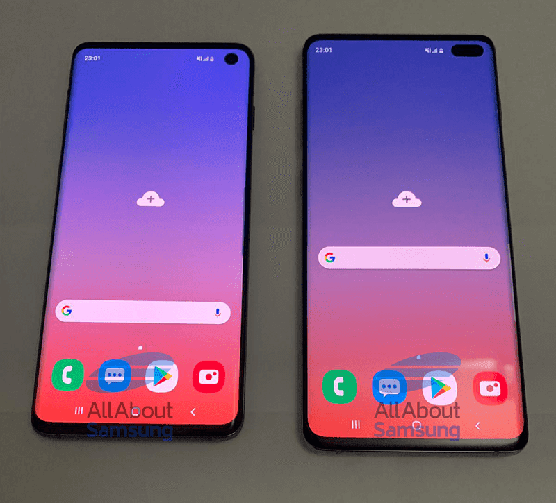 The alleged Samsung Galaxy S10 and S10+