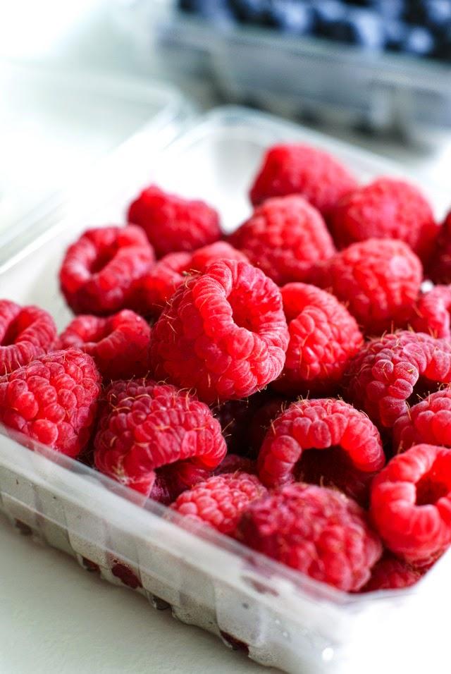 Fresh Rasperries for Breakfast Parfaits