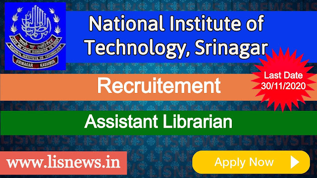 Assistant Librarian at National Institute of Technology, Srinagar