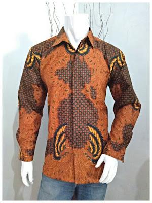 Kemeja Batik Pria Sogan Motif Batik Solo 2