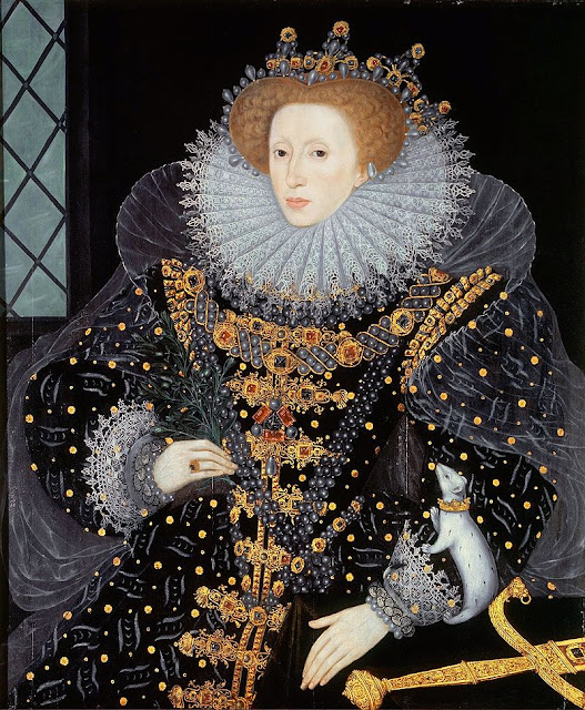 Queen Elizabeth I Ermine Portrait by William Segar 1585