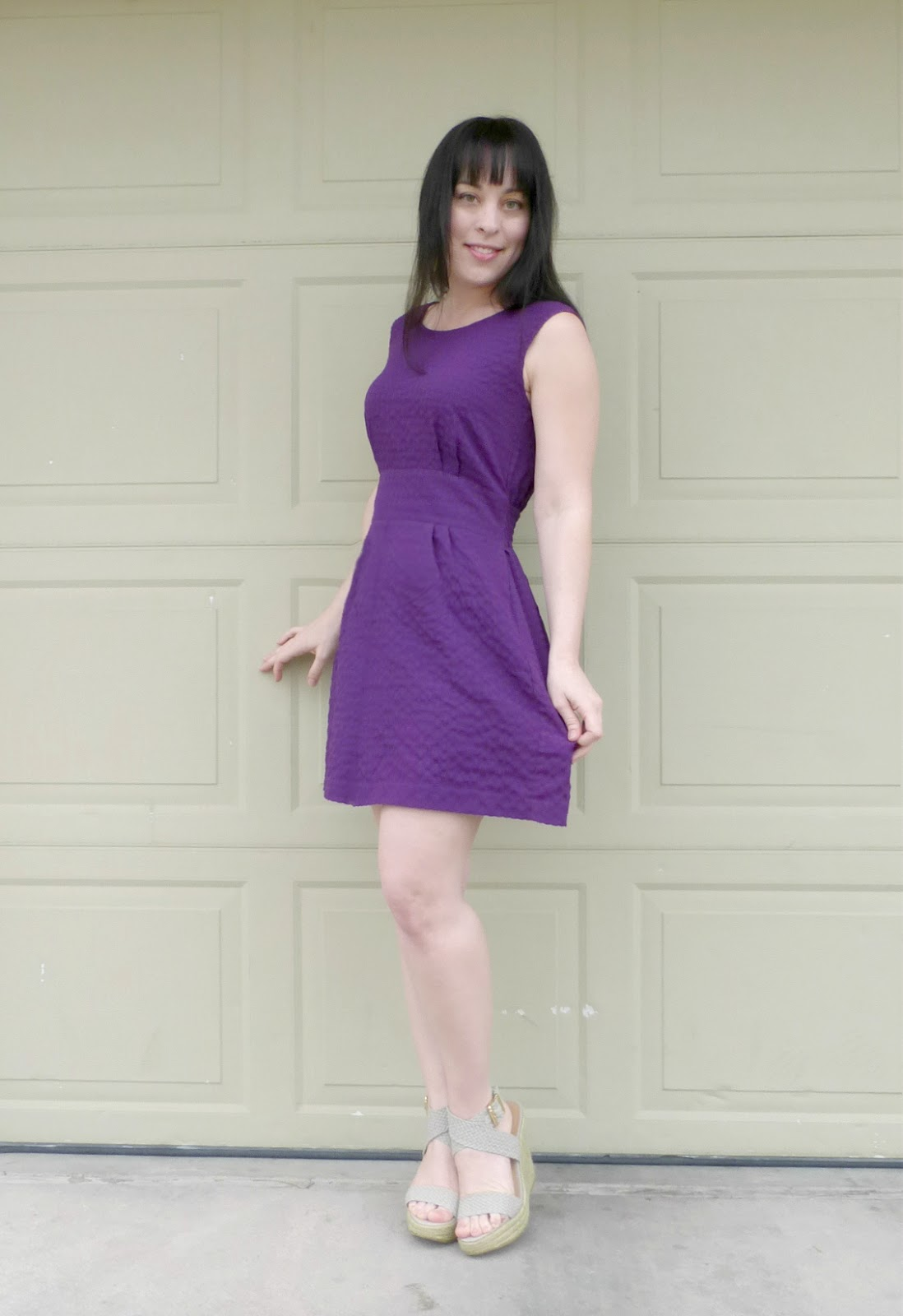 romper to purple dress refashion