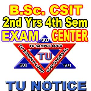 B Sc CSIT exam Center 2076