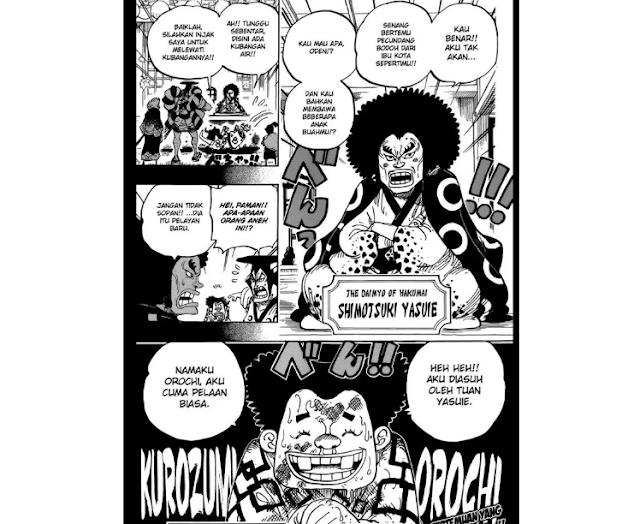 Spoiler manga one piece komik OP 962 - Si Orochi Jelek Pembantu Tak Tau Diri
