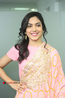 Actress Ritu Varma Pos in Beautiful Pink Anarkali Dress at at Keshava Movie Interview .COM 0016.JPG