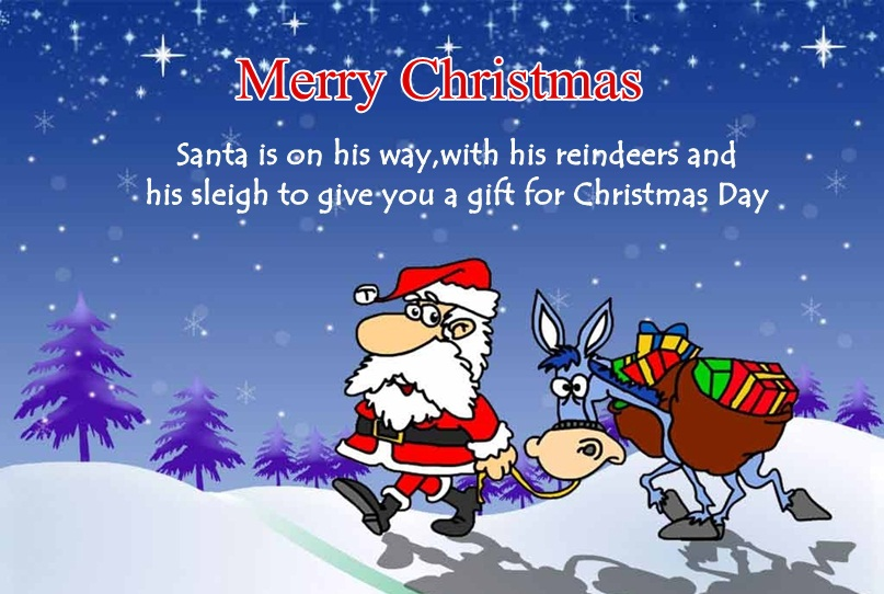 Funny Santa Claus Image