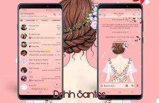 Cute Girl Theme For YOWhatsApp & Fouad WhatsApp By Driih Santos
