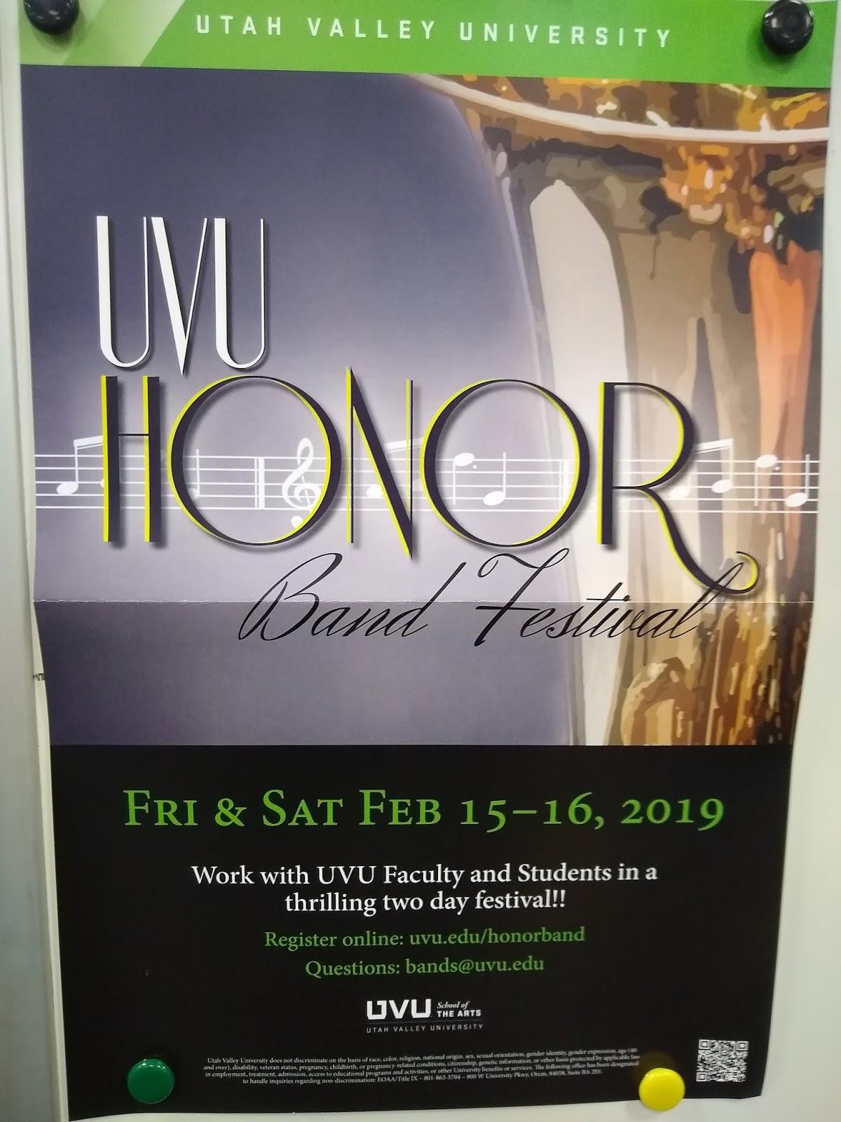 Uvu Academic Calendar.Copper Hills Band Boosters Uvu Honor Band