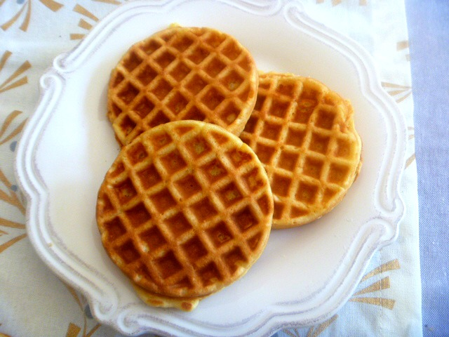 Orange Eggnog Waffles: Tender on the inside and crispy on the outside.  These waffles are laced with citrus and eggnog.  One bite and your taste buds will explode! - Slice of Southern