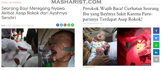 Bayi Korban Asap Rokok