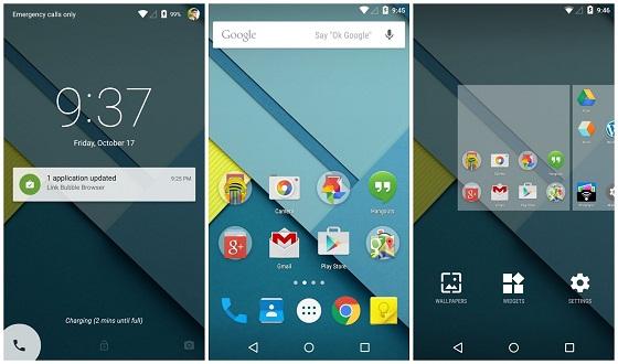 Android Lollipop Updates