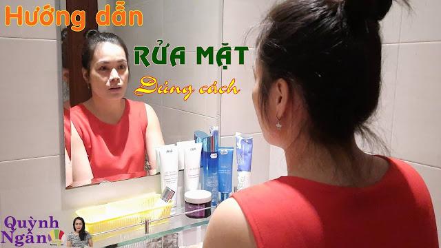 Hướng dẫn rửa mặt đúng cách (chi tiết, từng bước) từ Quỳnh Ngân Spa 7