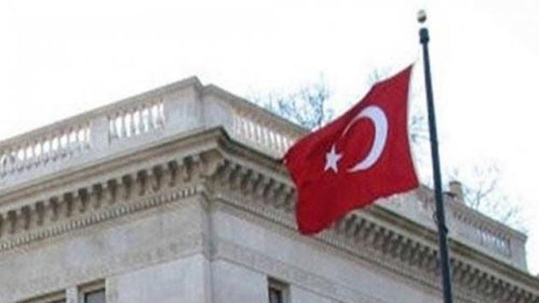 Πέταξαν μπογιές στην Τουρκική Πρεσβεία στην Αθήνα