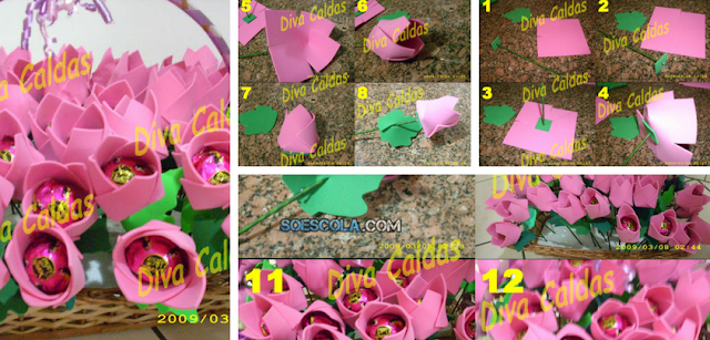Linda Lembrancinha Dia Internacional da Mulher - Flor