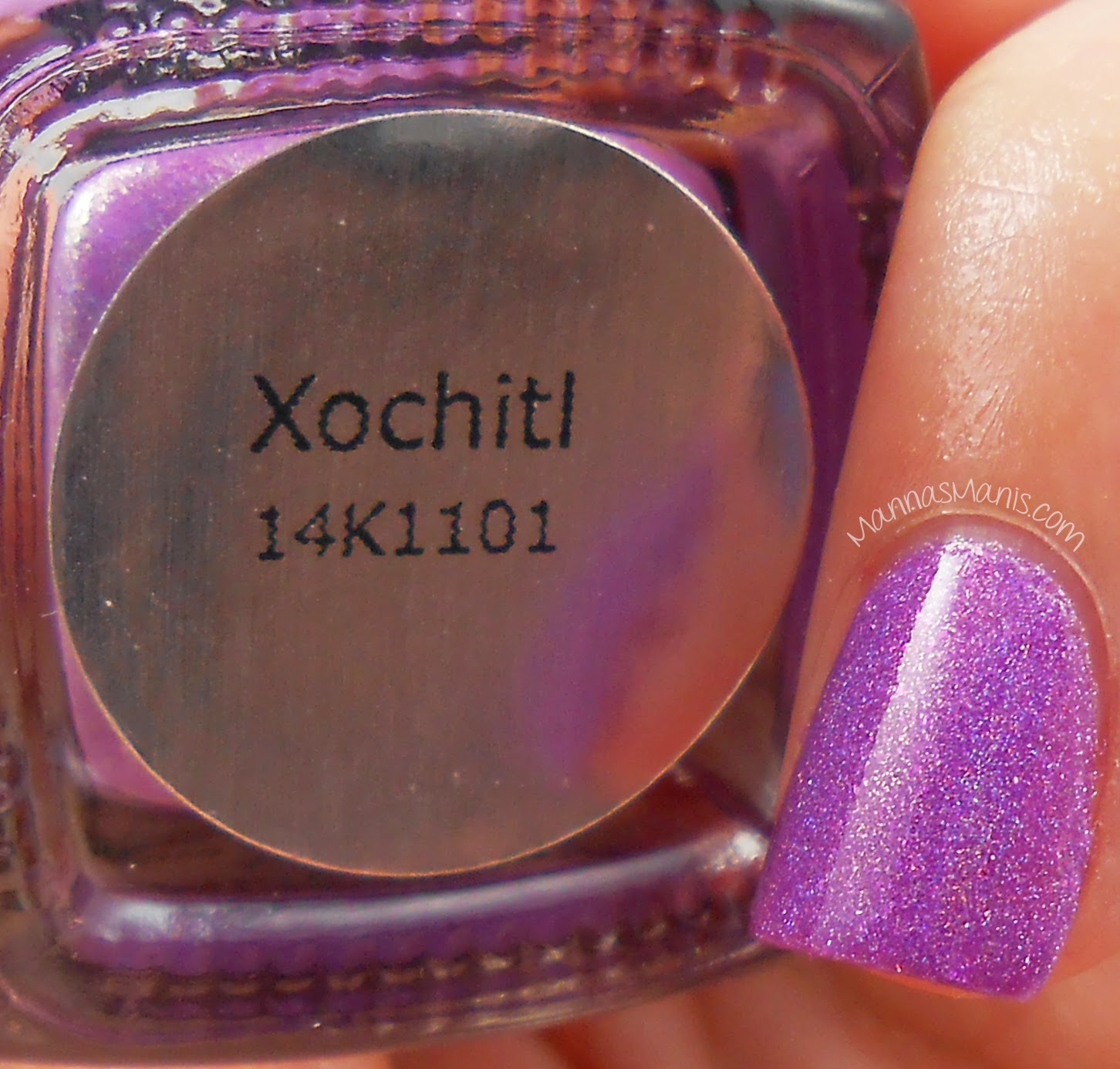 cirque colors xochitl, a purple holographic nail polish