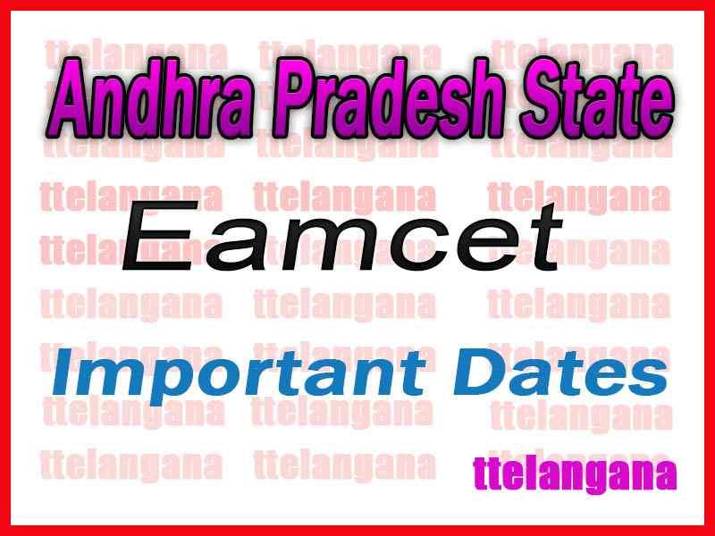 Andhra Pradesh EAMCET APEAMCET 2020 Exam Dates Download