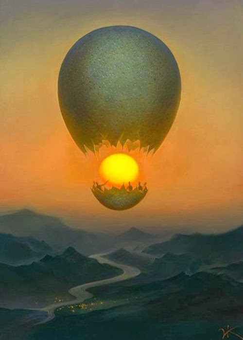 03-Flight-Of-the-Sun-Vladimir-Kush-Surreal-Lands-Paintings-www-designstack-co