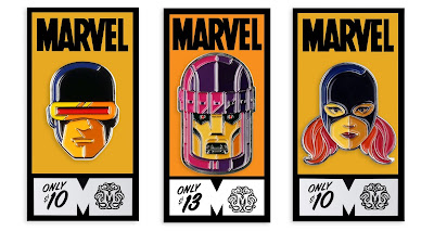 San Diego Comic-Con 2020 Exclusive Classic X-Men Marvel Portrait Enamel Pins by Tom Whalen x Mondo