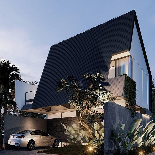 desain rumah cluster type 36