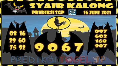Syair Kalong SGP Rabu 16-Jun-2021