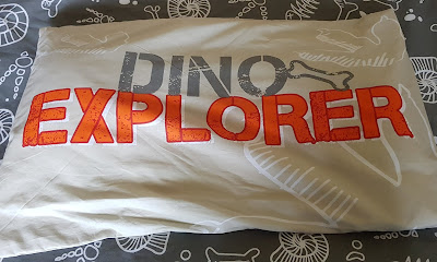 Nat Geo Recycled Plastic Polycotton Dino Pillowcase with Dino Explorer written on it