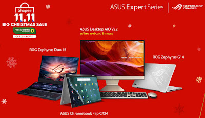 ASUS Expert Series and the Republic of Gamers SHOPEE 11.11 BIG CHRISTMAS SALE