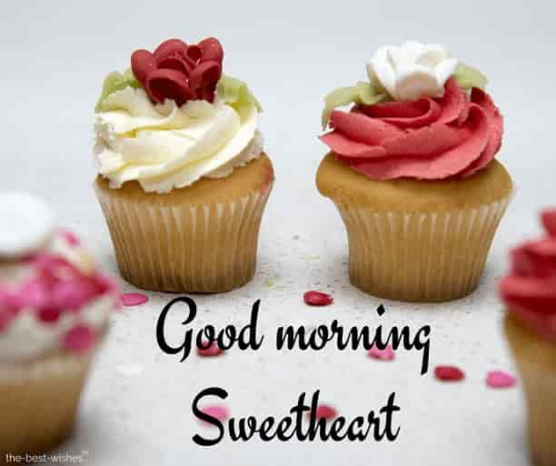 good morning sweetheart with cupcake