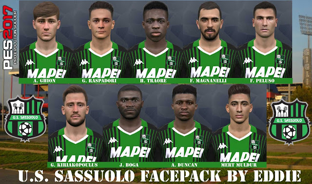 PES 2017 Sassuolo Facepack by Eddie