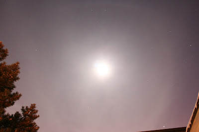 faint lunar halo