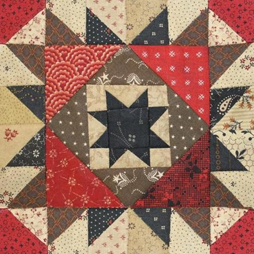 Scrap Basket Block Quilt Pattern