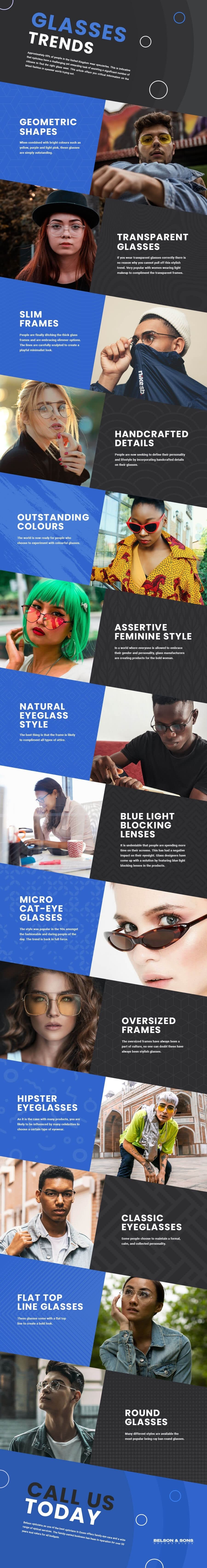 Glasses Trends for 2020 #infographic