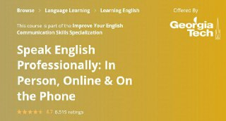 [Coursera] Speak English Professionally: In Person, Online & On the Phone