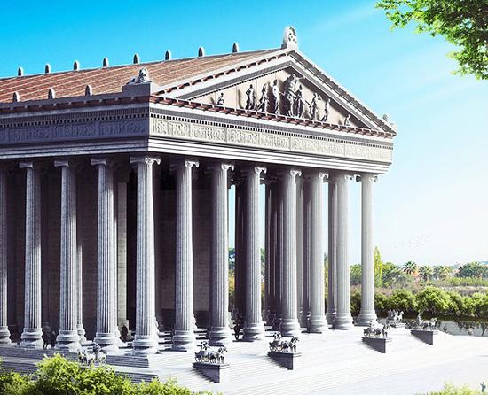 la biblioteca Celso di Efeso risalente al 135 d.c.