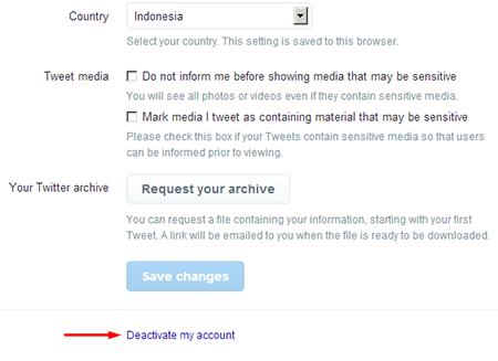 Cara Menonaktifkan Akun Twitter 100% Berhasil 2