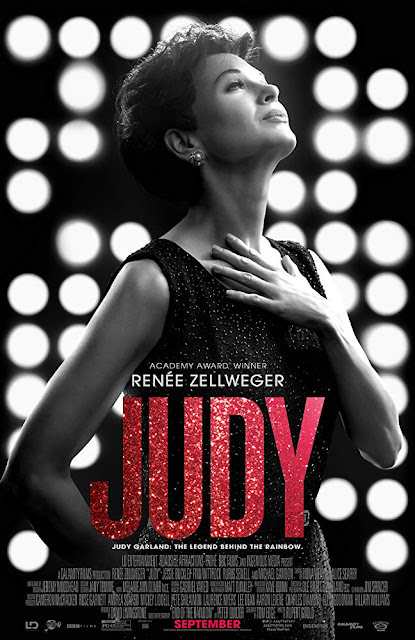 "BBC Films and Roadside Attractions presents the movie poster for ""Judy"" (2019), starring Renée Zellweger, Jessie Buckley, Rufus Sewell, Finn Wittrock, Michael Gambon, Darci Shaw, and Andy Nyman #moviereview"