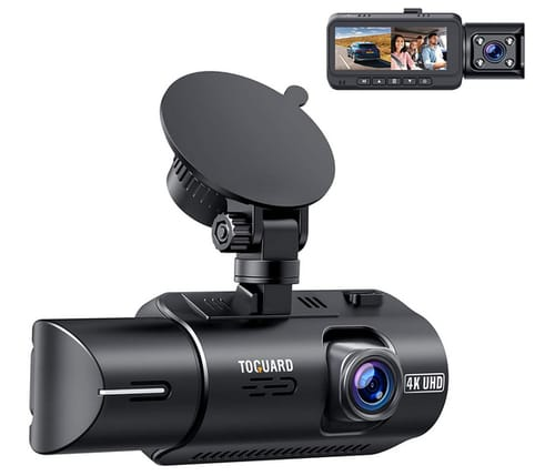 TOGUARD CE67 Dual Dash Cam 4K Car Camera