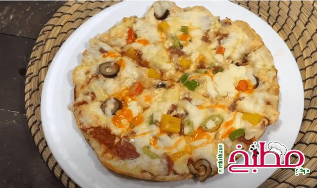 بيتزا الطاسه فاطمه ابو حاتي