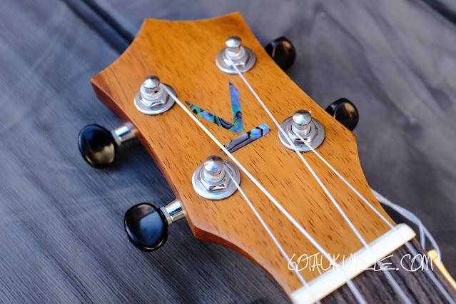 Kumu 4 string tenor ukulele headstock