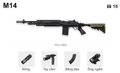 M14 có thể đóng thế súng bắn tỉa nếu đc trang bị ống ngắm phóng đại lớn