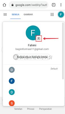 cara ganti foto profil di gmail lewat android