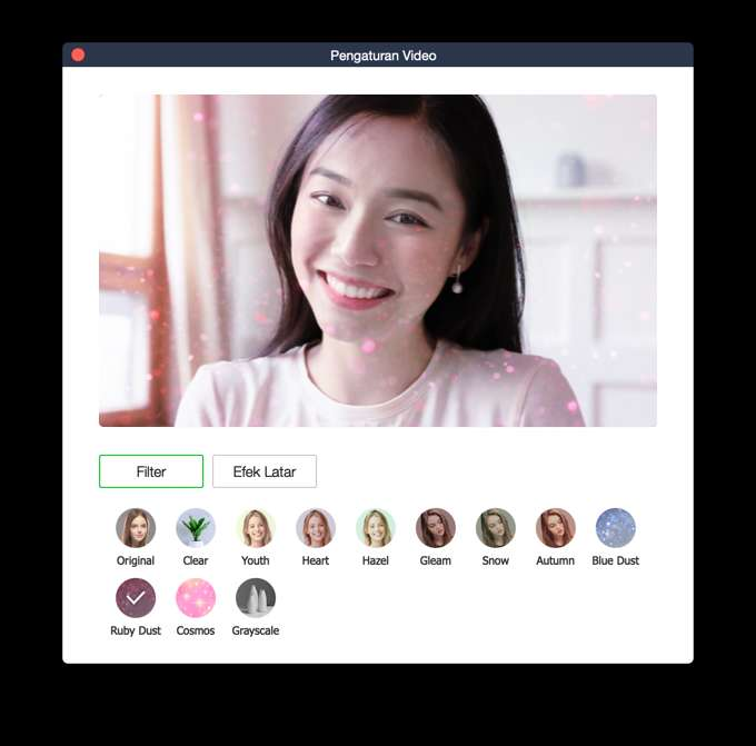Filter Video Call Line (line.me)