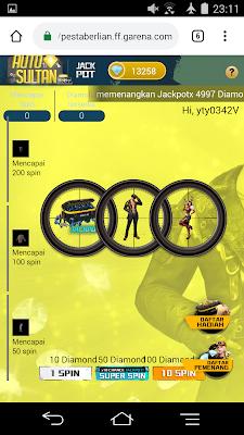 Cara Membuka Event Free Fire Auto Sultan di Hp Ram 2GB