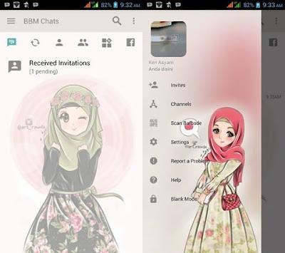 BBM Mod Hijab Theme 3.2.0.6 Apk