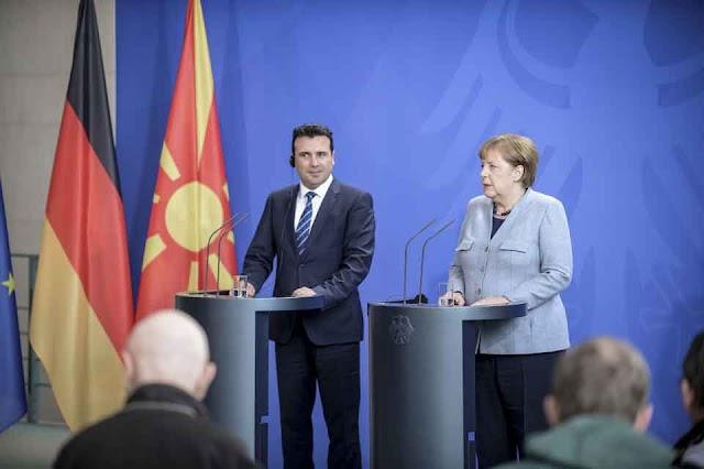 Brief von Bundeskanzlerin Merkel an den mazedonischen Ministerpräsidenten Zaev